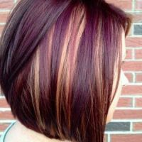 25+ best ideas about Burgundy Hair Highlights on Pinterest ...