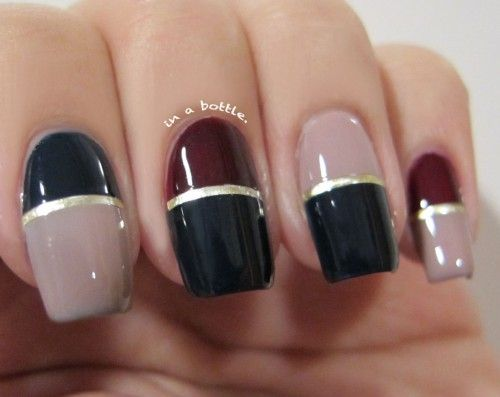 1000+ ideas about Two Color Nails on Pinterest