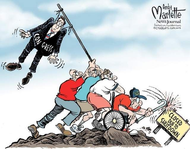 Andy Marlette A Parody Of The Statue And Photo Of The