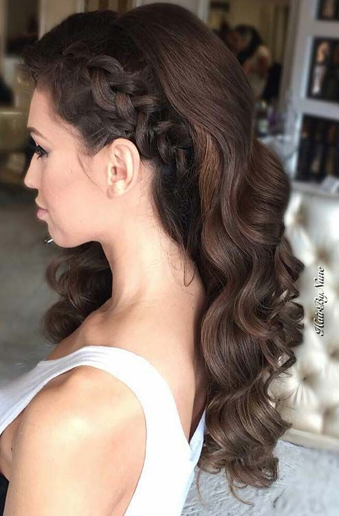 25 Best Ideas About Side Hairstyles On Pinterest Wedding Hair
