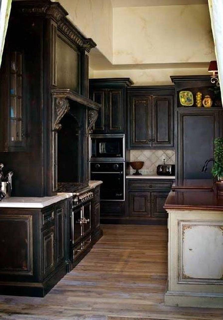 17 Best ideas about Black Kitchen Cabinets on Pinterest