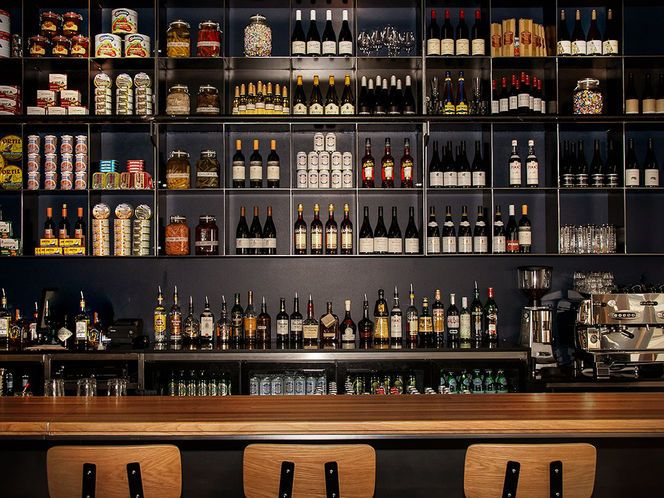 back bar storage  design  Cafe  Pinterest  Storage design Storage and Bar