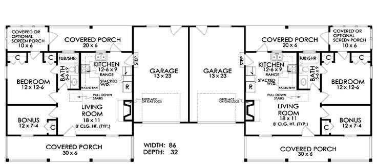 25+ best ideas about Duplex house plans on Pinterest