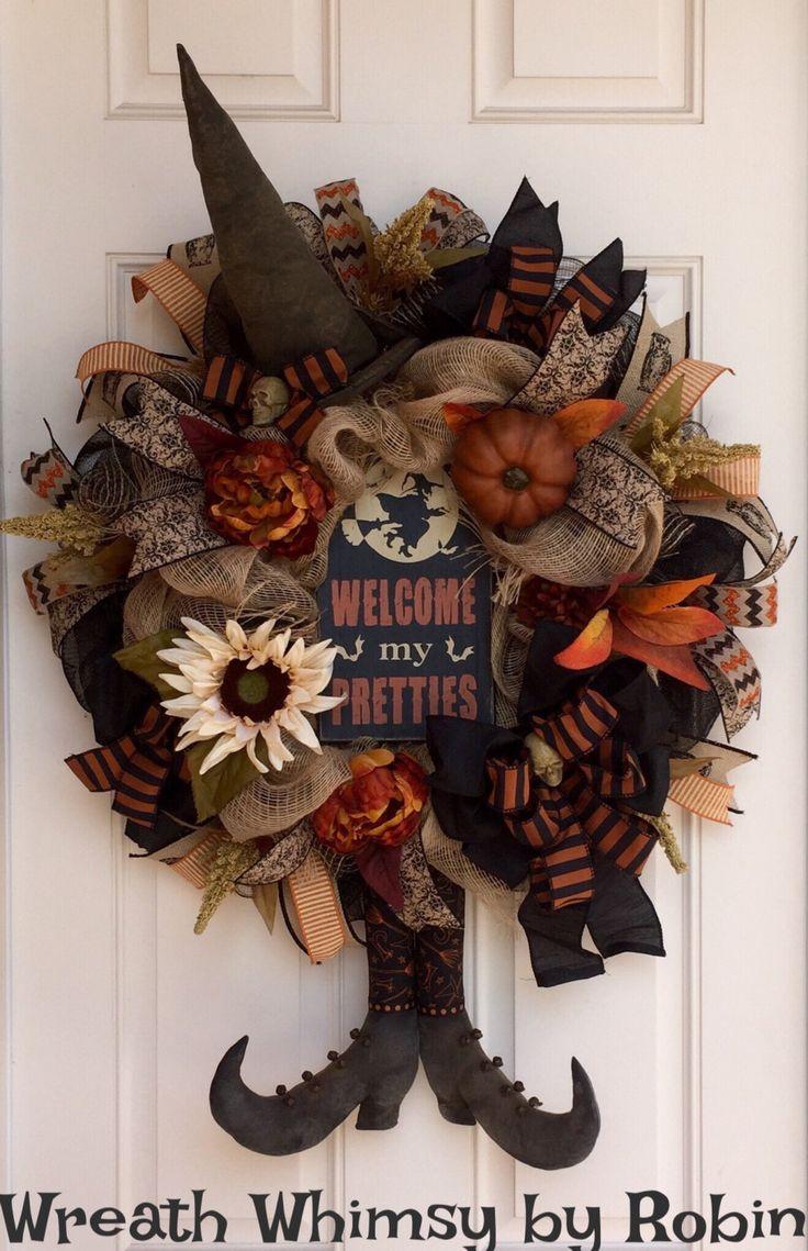 17 Best ideas about Halloween Wreaths on Pinterest