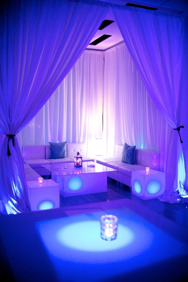 Rooftop lounge decor for a birthday celebration