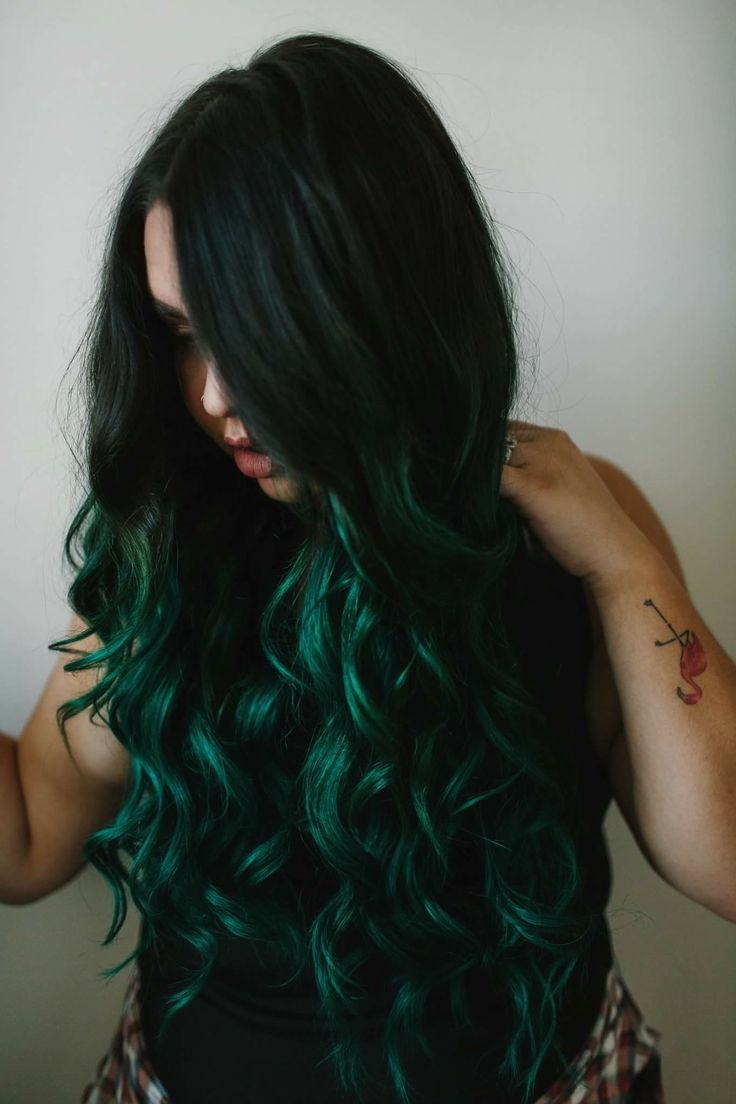 25 best ideas about Emerald green hair on Pinterest