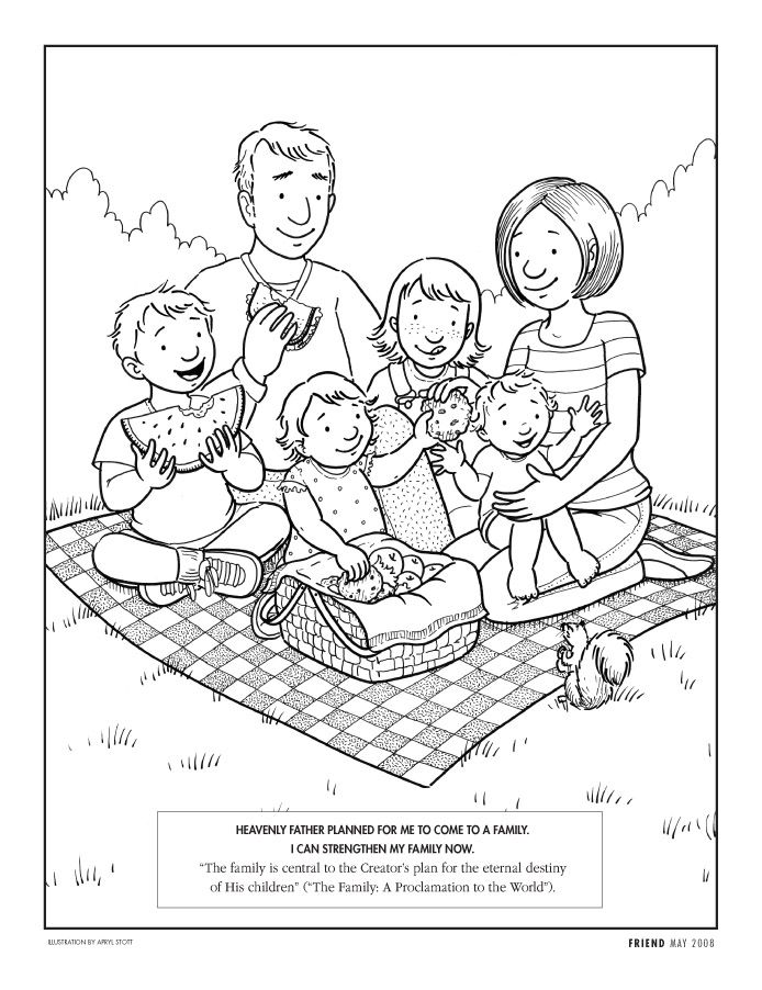 Familia Coloring Page // Unfortunately, I had to cover up