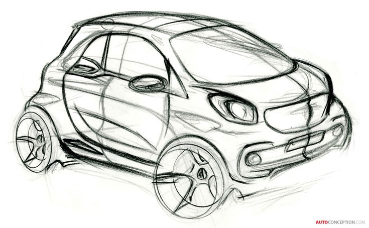 Smart ForTwo sketch... I wish production cars would remain