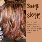 auburn & golden blonde brown