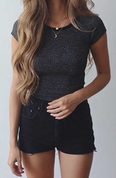 25 best ideas about Black shorts outfit on Pinterest  Shorts outfits women Black shorts and