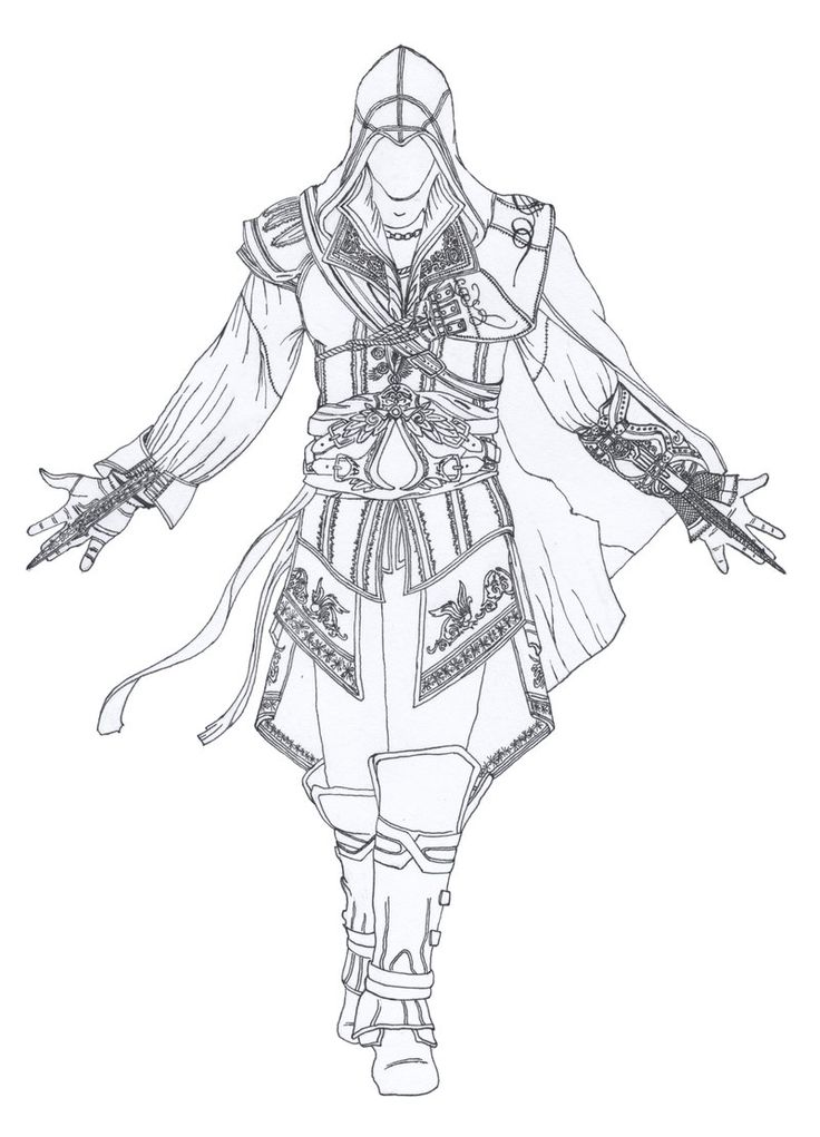 Assassin's Creed Coloring Pages : Check this out and other
