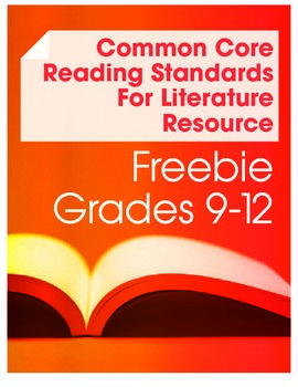 Common Core Reading LiteratureAnchor Standard 2 Freebie
