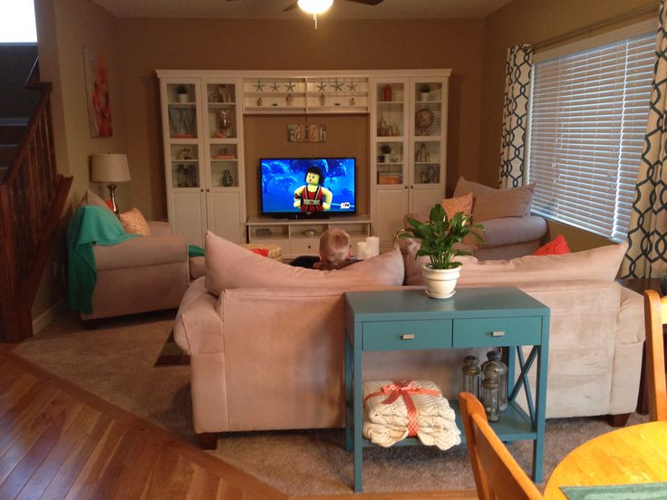 My living room Ikea liatorp entertainment center Aqua