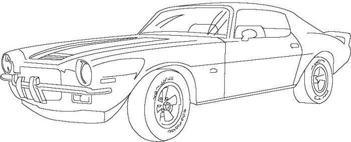 Vintage Antique Outline Car Coloring Page - Auto Electrical ...