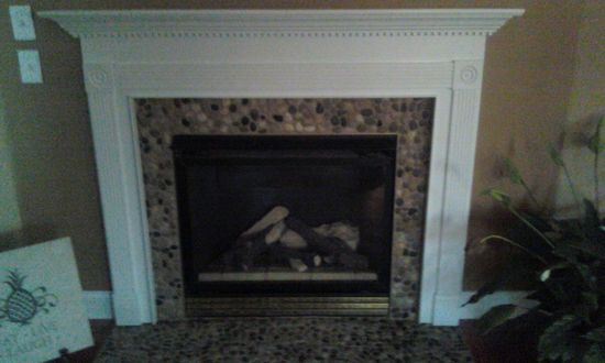 Ideas For Decorating A Fireplace Mantel Bali Ocean Pebble Tile | Bali, Rivers And Fireplaces