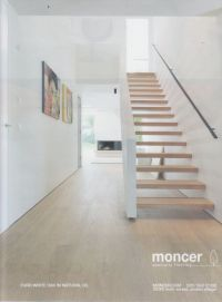 White oak in natural oil and open tread staircase with ...