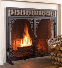 25+ best ideas about Fireplace screens with doors on ...