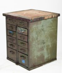 Vintage Industrial Workbench Kitchen Island Tool Cabinet ...