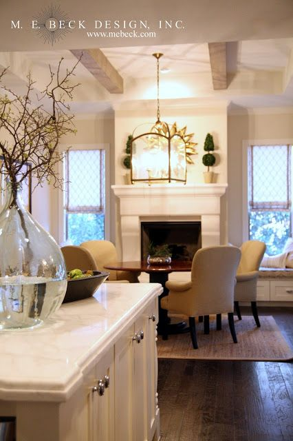 Flow Of Kitchen To Hearth Room House And Home Pinterest Table And Chairs Pull Up And