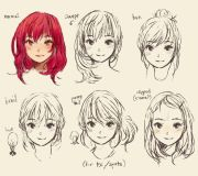 draw cute manga hair drawing