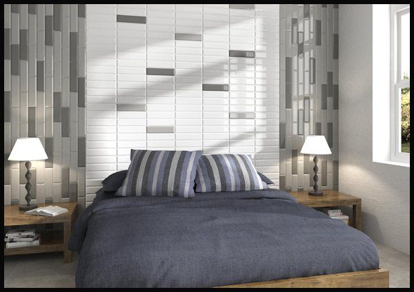 Subway Tile Trends: Bedroom Headboard & Feature Wall:Here