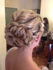 braided romantic updo bridesmaid