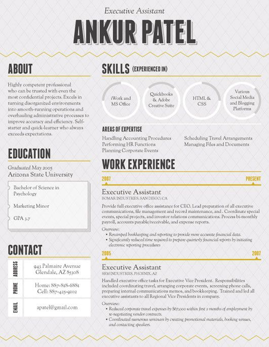 126 Best Clever Resumes Images On Pinterest