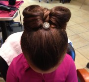 kids bow updo hair styles