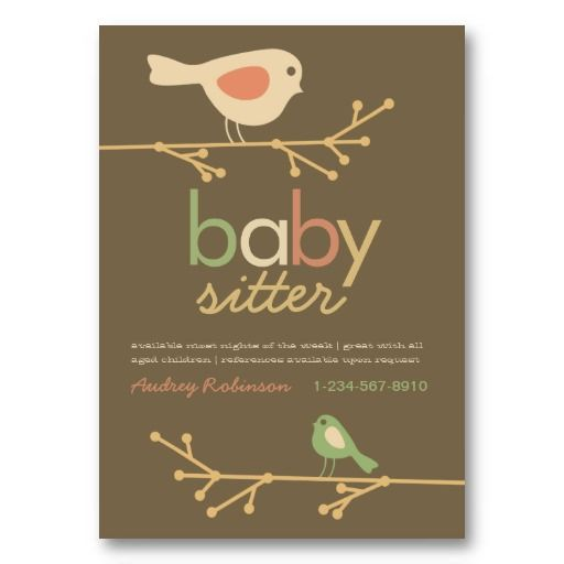Owls Free Babysitting Flyers Templates