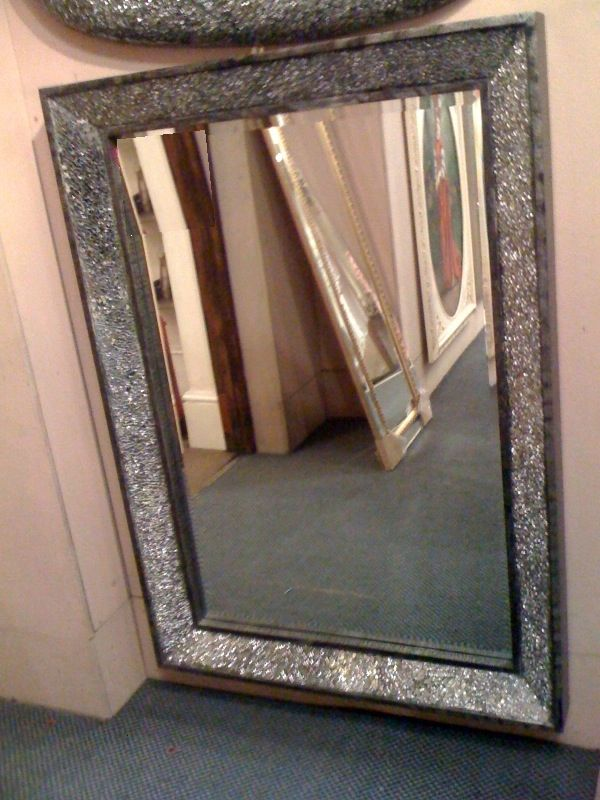 Crushed Glass Sparkle Mirror  Work ideas  Pinterest  Shops Love this and Glasses