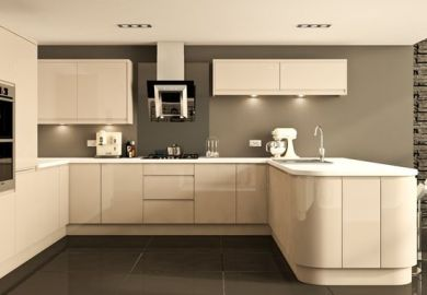 Cashmere Handleless Gloss Kitchen Modern Kitchen Other