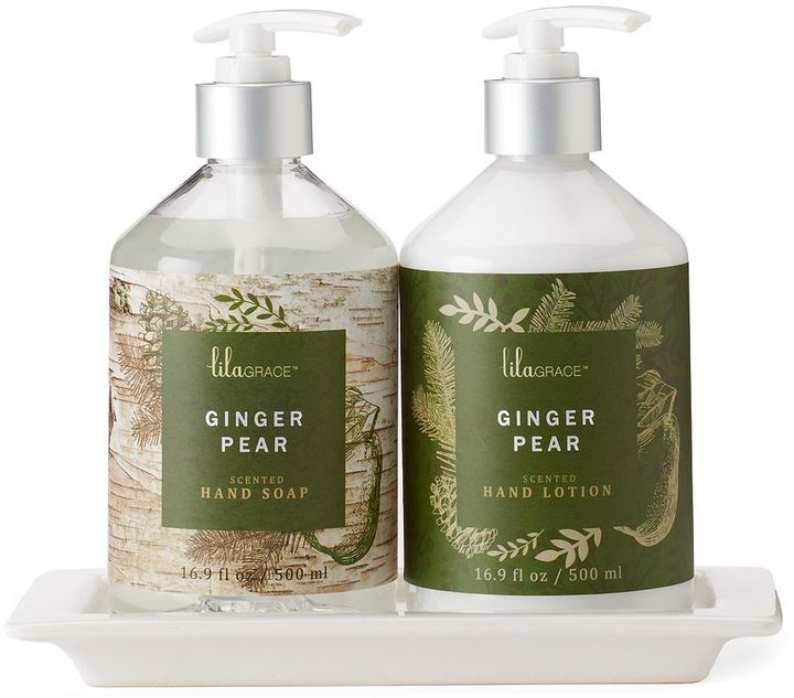 Lila grace ginger pear hand soap hand lotion caddy gift