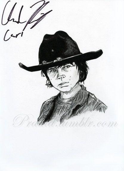HAND AUTOGRAPHED Portrait--Chandler Riggs