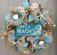 25+ best ideas about Beach wreaths on Pinterest | Shell ...