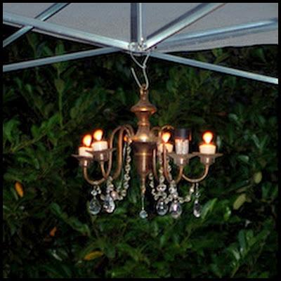 Candles Or Solar Lights Outdoor Chandelier  Gardening