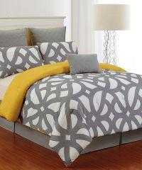 Look at this Gray & Citron Uxbridge Quilted Comforter Set ...
