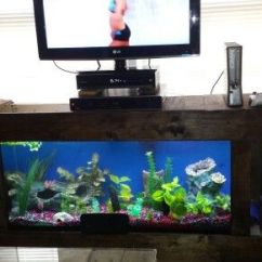 Tropical Living Room Design Ideas Traditional English Diy Fish Tank Entertainment Center | Pinterest ...