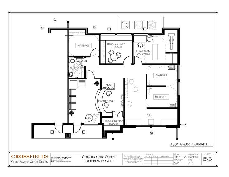 Chiropractic Office Floor Plan Semi-open Adjusting and