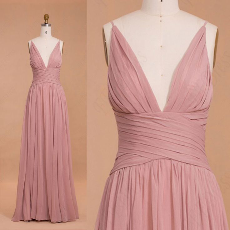 17 Best ideas about Dusty Pink Bridesmaid Dresses on