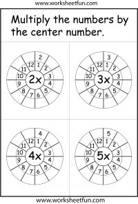 Times Table Worksheet – 2 -12 Times Tables