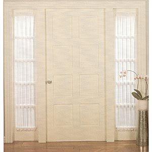 roma ii voile sheer sidelight panel sidelight curtainsdoor window
