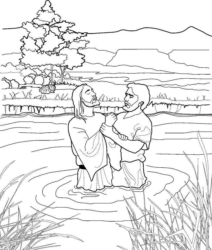 John the Baptist coloring page for kids from lds.org #