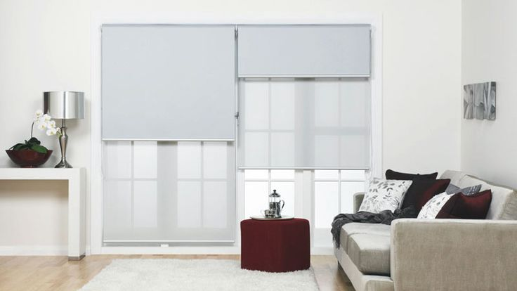 Dual Roller Blinds for the living areas Privacy