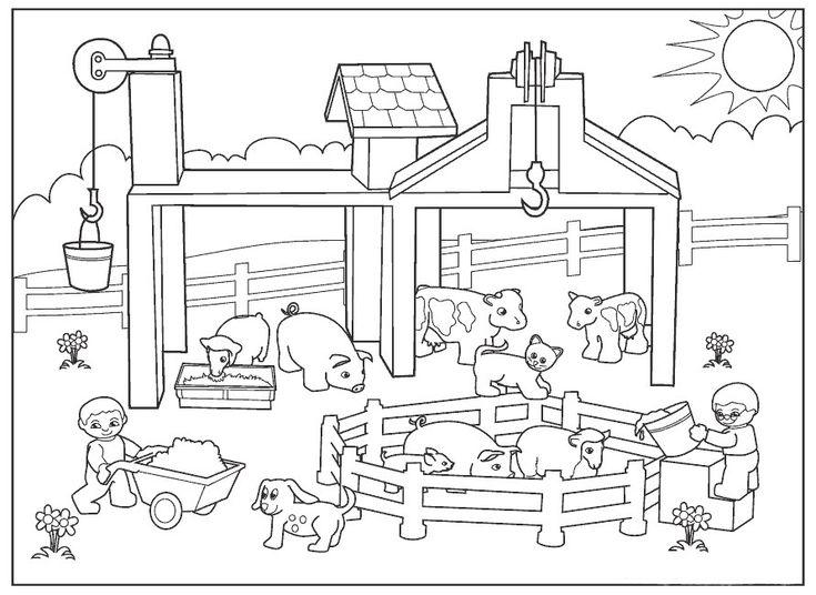 Dibujos de animales de granja para colorear cerdos
