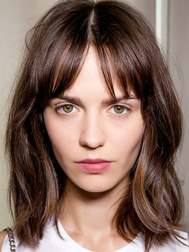 25 Best Ideas About Long Bob Bangs On Pinterest Medium Bob