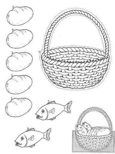 17+ images about Vijf broden en twee vissen on Pinterest