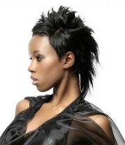 faux hawk pixie style african