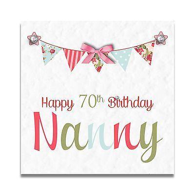Handmade Personalised Nanny Nan Mum Grandma 60th 70th 80th