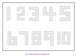 Snap Cube Numbers! Use snap cubes to out out blocks to