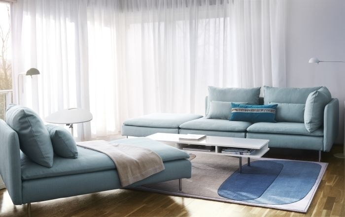 ikea soderhamn use just the chaise with extra arm